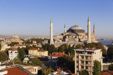 Türkei, Istanbul, Blick auf die Hagia Sophia und der Hagia Irene