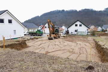 Europa, Deutschland, Rheinland-Pfalz, Vorbereitung für Hausbau