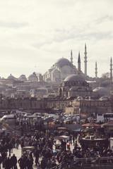 Türkei, Istanbul, Eminoenue, Blick auf Rustem Pascha-Moschee