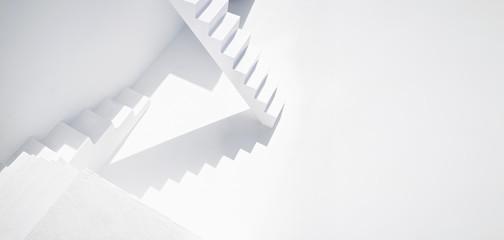 Weißes modernes Treppenhaus