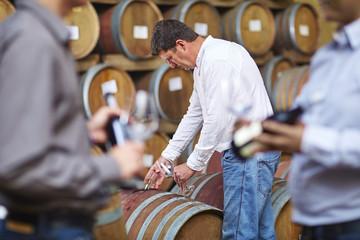 Beim Winzer, Weinprobe im Weinkeller