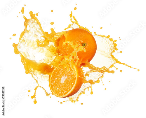 orange juice splashing - 79989192