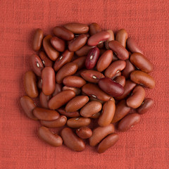 Circle of red beans