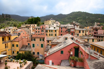Colourful small town in Italy