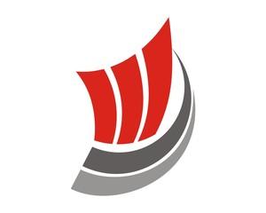 abstract financial marketing logo
