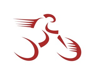 red bike bicycle logo