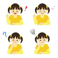子供 表情 女の子 / vector eps10