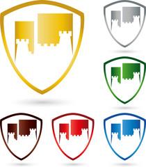 Logo, Turm, Schloss, Burg, Wappen