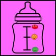 Baby Goods: Milk in Bottle - 79992506