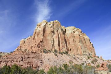 Red rock mesa outcrop New Mexico