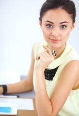 Modern young fashion designer working at studio