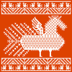 Russian and ukrainian folk embroidery, patterns. Vector