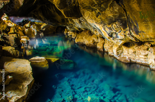 Iceland - Myvatn - Hot pool in cave - 79996501