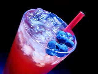 Blueberry  cocktail   on dark background.