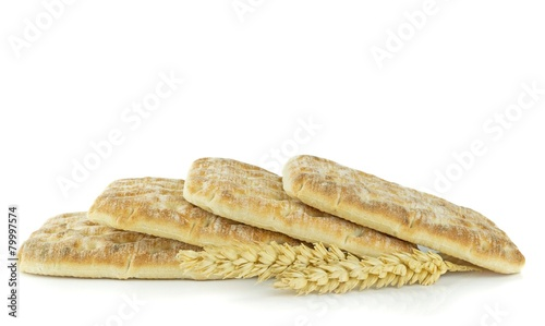 Fotobehang Brood Slices of Swedish soft bread on a white background