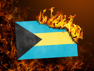 Flag burning - Bahamas
