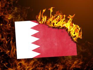 Flag burning - Bahrain