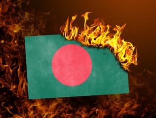 Flag burning - Bangladesh
