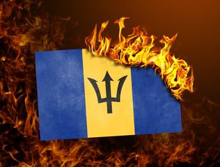 Flag burning - Barbados