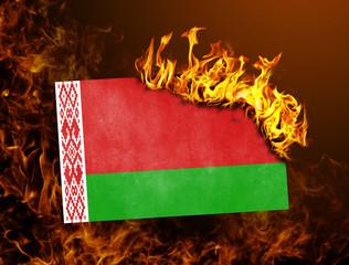 Flag burning - Belarus