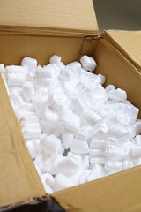 packing box with white packaging filling