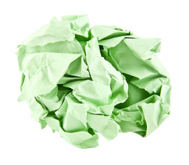 green crushed paper