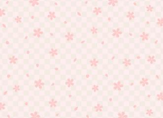 桜 チェック背景