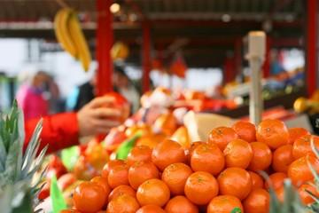 Fresh mandarin (Citrus reticulata) or mandarine on sale