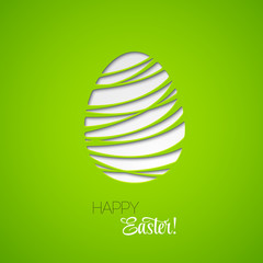 Happy Easter card decorated paper egg
