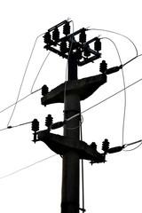 Concrete electricity pole