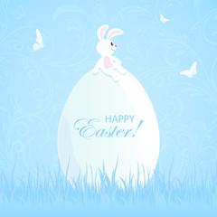 Easter rabbit and big egg