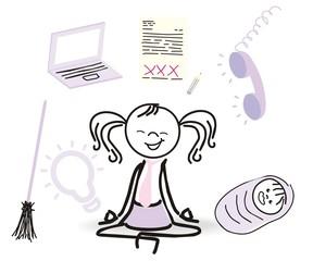 Yogaübung zum Entspannen