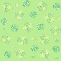 Background pattern of four leaf clover