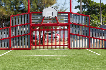 terrain de basket-ball