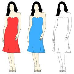 Simple elegant girl fashion
