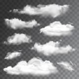 Photo: Set of transparent realistic clouds. Vector illustration