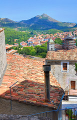 Panoramic view of Morano Calabro. Calabria. Italy.