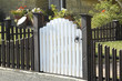 white garden gate and low fence - 80003739