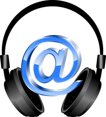 słuchawki i mail