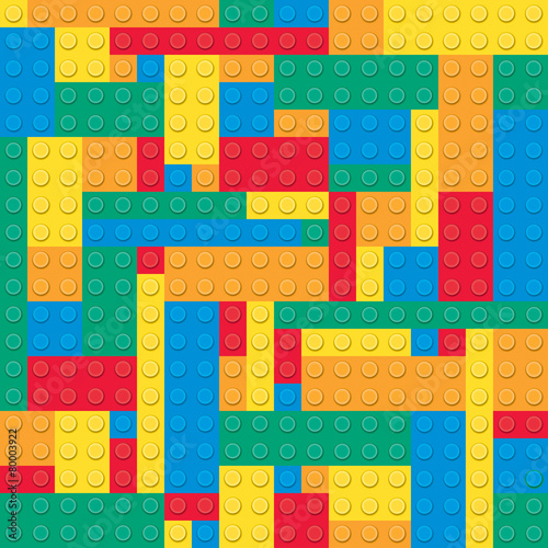 Building toy bricks. Seamless pattern - 80003922