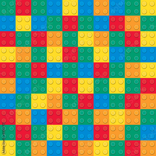 Building toy bricks. Seamless pattern - 80003931