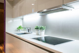 Modern kitchen with induction hob - 80004302