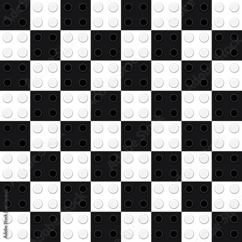 Chess board from toy bricks - 80004508