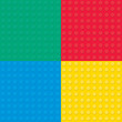 Set of four Building toy bricks. Seamless pattern. - 80004713