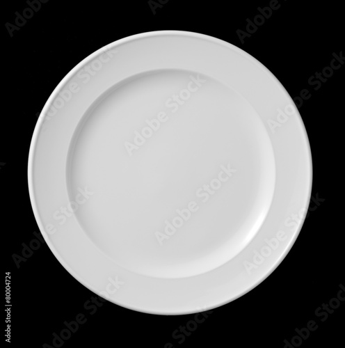 white plate on black - 80004724
