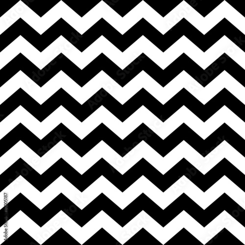 Fototapeta Seamless zig zag pattern in black and white