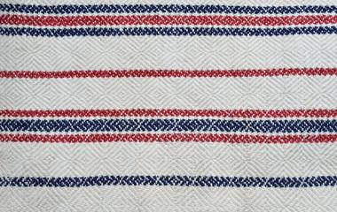 Close-up of the homespun cloth