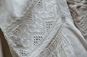 Ukrainian traditional whitework embroidery