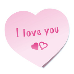 I Love You Sticky Note