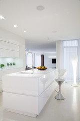 Beauty white kitchen interior